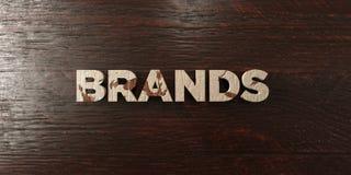 Marques - titre en bois sale sur l'érable - image courante gratuite de redevance rendue par 3D illustration libre de droits