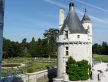 Marques Tower at the Chateau de Chenonceau, France Royalty Free Stock Photography