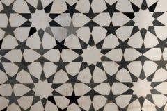 Marqueterie de marbre sur la façade du tombeau d'Akbar. l'Inde Photos libres de droits