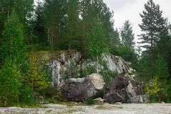 Marqueterie de Ruskeala Photographie stock libre de droits