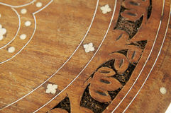 Marquetry on tabletop Stock Image