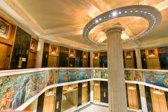 Marquette大厦马赛克-芝加哥 库存图片