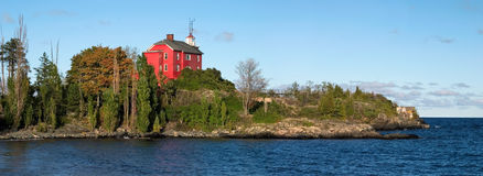 Marquette Harbor Lighthouse Royalty Free Stock Photos