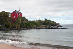 Marquette Harbor Lighthouse, Marquette County, Michigan, U.S.A. Fotografia Stock Libera da Diritti