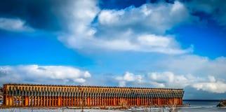 Marquette Michigans Orr-Dock Stockbild