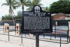 Marqueur africain de cimetière, Key West la Floride Photographie stock