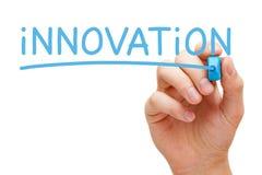Marqueur de bleu d'innovation photo libre de droits