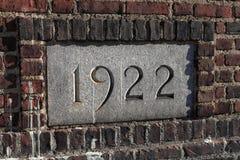 Marqueur 1922 de Franklin Field Stadium d'Université de Pennsylvanie photo stock