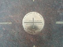 Marqueur de quatre coins en Utah, le Colorado, Arizona, Nouveau Mexique images libres de droits