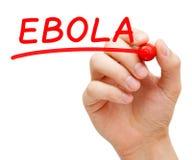 Marqueur de rouge d'Ebola Image stock