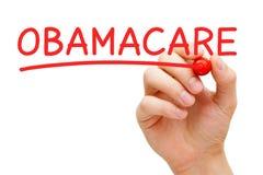 Marqueur de rouge d'ObamaCare photos stock