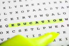 Marqueur des textes sur le puzzle de mot - bulletin d'information Image stock