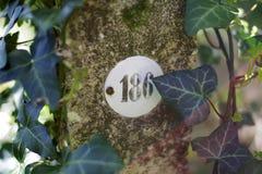 Marqueur en pierre cadastral photo stock