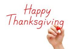 Marqueur heureux de rouge de thanksgiving Photos stock