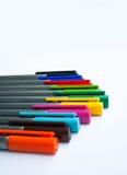 Marqueur multicolore sur le fond blanc Photographie stock libre de droits