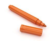 Marqueur orange Photos stock