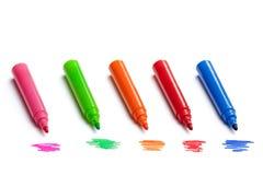 Marqueurs colorés Photos libres de droits