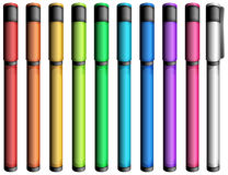 Marqueurs colorés Image stock