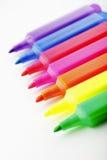 Marqueurs colorés des textes d'isolement sur le blanc Photos libres de droits