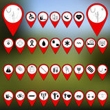 Marqueurs pour des cartes Image stock