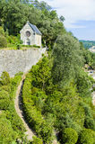 Marqueyssac chapel. The chapel at Marqueyssac perched on the very edge of the property, overlooking the valley below. Copyspace stock photos