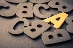 Marquez avec des lettres A Photos stock