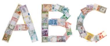Marquez avec des lettres A, B, C d'argent Photographie stock libre de droits