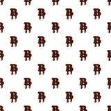 Marquez avec des lettres B de l'alphabet latin fait de chocolat illustration de vecteur