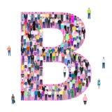 Marquez avec des lettres B, personnes différentes, illustration de vecteur illustration stock