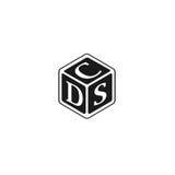 Marquez avec des lettres DSC, DCS, CDD, vecteur de logo de CDS Images libres de droits