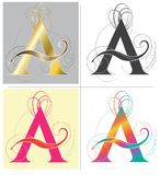 Marquez avec des lettres la police d'alphabet d'A pour diriger la conception Image stock