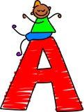 Marquez avec des lettres le garçon d'A illustration libre de droits
