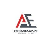Marquez avec des lettres le vecteur moderne de logo des EA, marquez avec des lettres le logo d'A, logo de la lettre E Illustration de Vecteur