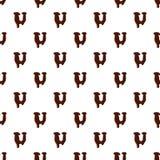 Marquez avec des lettres U de l'alphabet latin fait de chocolat illustration de vecteur
