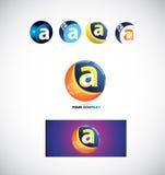 Marquez avec des lettres une icône 3d de logo de sphère illustration libre de droits