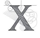 Marquez avec des lettres X illustration de vecteur