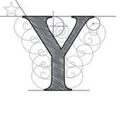 Marquez avec des lettres Y illustration stock
