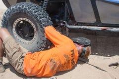 Marquez la course de camion de la route 4x4 Baja Photos libres de droits