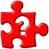 marquez la question de puzzle de partie illustration stock
