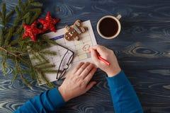 Marquez le calendrier de date pour Noël, le 25 décembre, avec de fête Images libres de droits