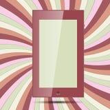 Marquez sur tablette sur le papier coloré 2 Photo stock