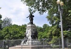 Marquis de Lafayette Statue från Washington District av Columbia USA Arkivbilder