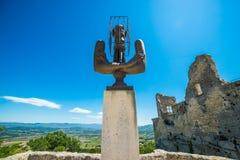 Marquis de Sade monument Stock Photos