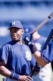 Marquis Grissom. Milwaukee Brewers OF Marquis Grissom. Image taken from color slide royalty free stock photography