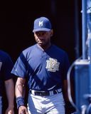Marquis Grissom. Milwaukee Brewers OF Marquis Grissom. Image taken from color slide stock image