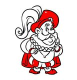 Marquis medieval nobleman cartoon illustration Stock Images