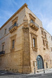 Marquis Palace. Galatone. Puglia. Italy. Stock Image