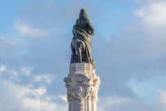 Marquis of Pombal statue. Marquis of Pombal monument in Lisbon, capital city of Portugal royalty free stock photos