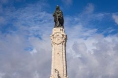 Marquis of Pombal statue. Monument of Marquis of Pombal in Lisbon, capital city of Portugal stock photo