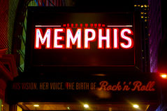 Marquis pour Memphis musical, Manhattan, NYC Photo stock
